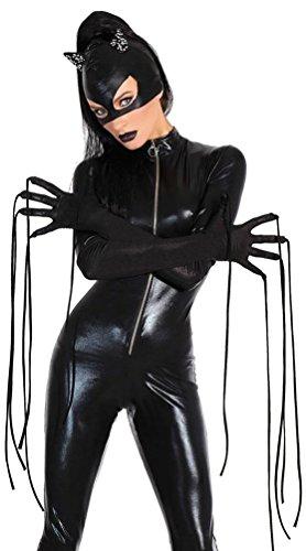 YOUJIA Donna Catsuit Costumi di Carnevale Catwoman Bodysuit Halloween Costume Tuta per Cosplay o Feste Nero M