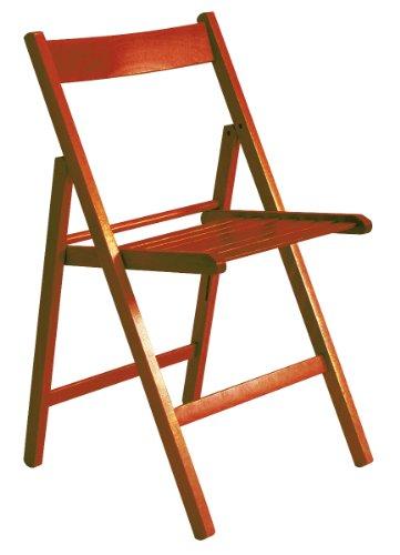 """""""Maison"""" sedia pieghevole listellare 100% FSC arancio"""