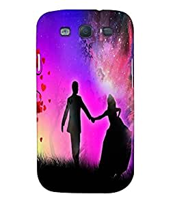 Fuson Love Couple Back Case Cover for SAMSUNG GALAXY S3 - D3888