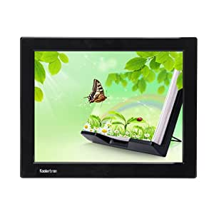 """Koolertron - 12.1"""" Grand Cadre photo numérique Digital Image Frame LCD écran large (4:3) résolution 1024*768 - Lecteur SD / MMC / MS Vidéo MPEG1/MPEG2 Musique MP4 MP3 - Fonction télécommande et haut-parleur intégré 3,5mm.jack pour casque - Noir"""