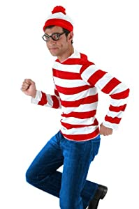 elope Where's Waldo Adult Costume Kit, Red/White, Small/Medium