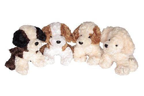 4er Set Knuddeliger Plüschhunde Fox Terrier,