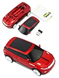 Wireless 2.4GHZ mouse USB 2.0 car style with LED light (Red)