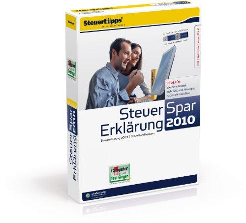 Bewertung für Steuer-Spar-Erklärung 2010 (für Steuerjahr 2009)