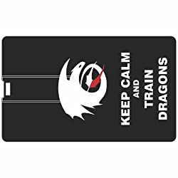 Printland Train Dragon PC81061 Credit Card Shape 8GB Pen Drive