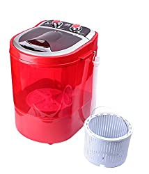 DMR 30-1208 Portable Mini Washing Machine with Dryer Basket (3 kg, Red)