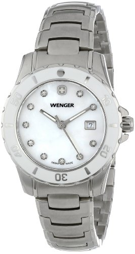 Wenger Women'S 70388 Sport White Dial Steel Bracelet Watch