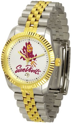 Arizona State Sun Devils ASU NCAA Mens Steel Executive Watch