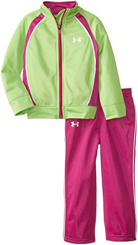 Under Armour Little Girls' Pregame Tricot Set Gecko Toddler, Gecko, 2T front-1063277