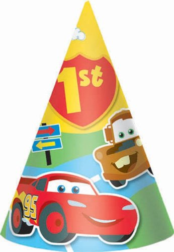 Cars 1st Birthday Champ Party Hat - 1