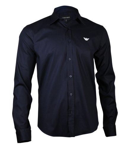 Emporio Armani, Herren Hemd, Größe: M, Farbe: Navy