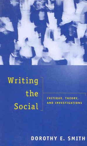 Writing the Social: Critique, Theory, and Investigations