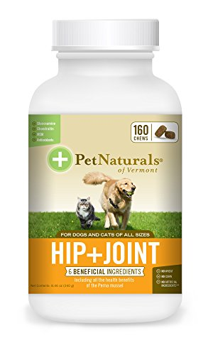Pet Naturals of Vermont Hip + Joint, Daily Joint Supplement for Cats & Dogs, 160 Bite Sized Chews (Vermont Naturals Hip And Joint compare prices)