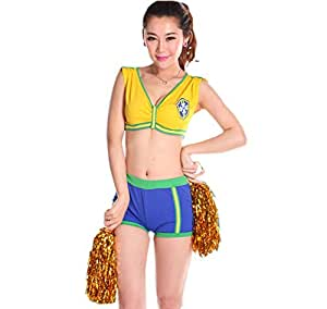 Amazon.com : [Brazil] Cheerleader Costume/ Cheerleading Uniform Size L