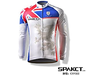 SPAKCT Cycling long sleeve Jersey with lion pattern - 2012 London Olympics (CSY322)... by SPAKCT