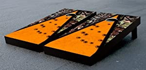 CAMO TARGET PRACTICE TRIANGLE CORNHOLE GAME SET by Victory Tailgate (24x48 Heavy... by Victory Tailgate