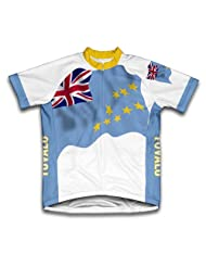 Tuvalu Flag Short Sleeve Cycling Jersey for Women