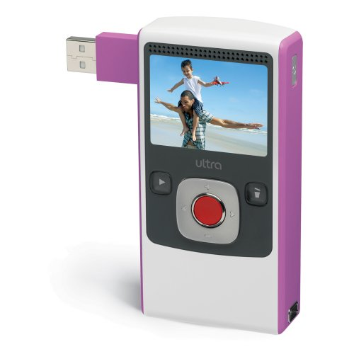 Flip Ultra Video Camera - Pink, 4 GB, 2 Hours
