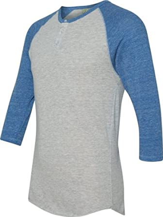 Alternative Mens Basic Raglan Shirt X-Small Oatmeal/ Royal