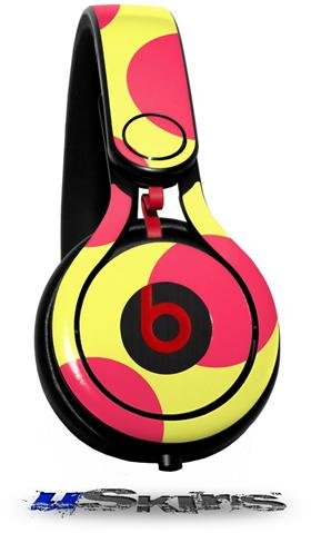 Kearas Polka Dots Pink And Yellow Decal Style Skin (Fits Genuine Beats Mixr Headphones - Headphones Not Included)