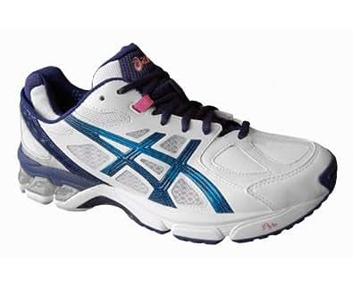 ASICS Gel-Netburner Professional 9 Ladies Netball Shoe, White/Navy, US9.5