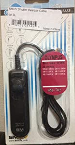 SMDV Remote Shutter Release Cable for Olympus  E-400, E-410, E-420, E-450, E-510, E-520, E-620, SP-57DUZ, SP-560EZ, SP-550EZ, SP-510EZ, E-PL2, E-PL3, E-P2, E-P3, E-M, OM-D E-M5, Replaces Olympus RM-UC1