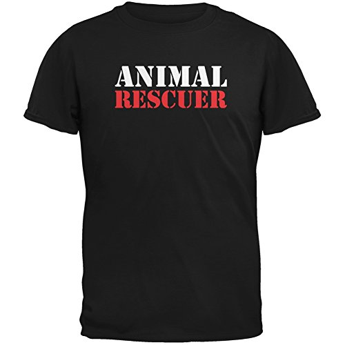 Animal Rescuer Black Adult T-Shirt - X-Large