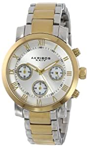 "Akribos XXIV Women's AK623TT ""Grandiose"" Two-Tone Stainless Steel Bracelet Watch"