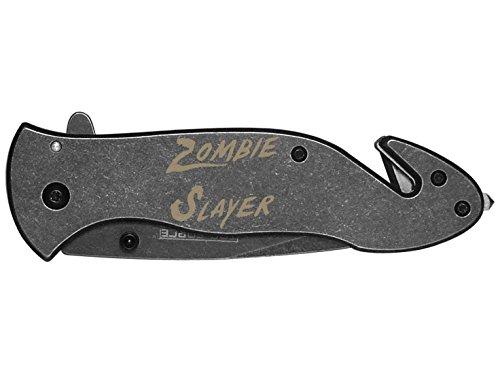 Zombie Slayer Txt Engraved Tac-Force Tf-811Sb Speedster Model Folding Pocket Knife By Ndz Performance