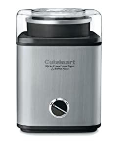 Cuisinart CIM-60PCFR Pure-Indulgence 2-Quart Ice-Cream Maker, Brushed Chrome