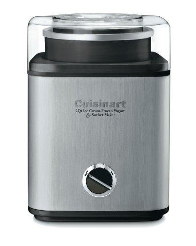 Cuisinart CIM-60PC Pure Indulgence Automatic Frozen Yogurt, Sorbet and Ice Cream Maker, 2 quart, Grey and Black (Cuisinart Sorbet compare prices)
