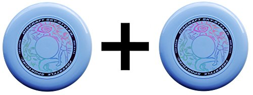 Discraft Freestyle Sky-Styler Frisbee 160 Gram Sport Disc-Light Blue (2-Pack)