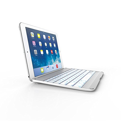 Zagg Cover Case With Backlit Bluetooth Keyboard For Ipad Air-White