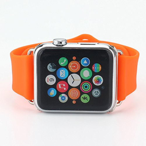 For Apple Watch Band, Sports Soft Silicone Rubber Fitness ...