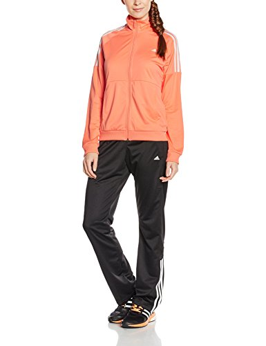 Adidas Frieda Suit Tuta per Donna, Arancione/Bianco (Brisol/Bianco), XS