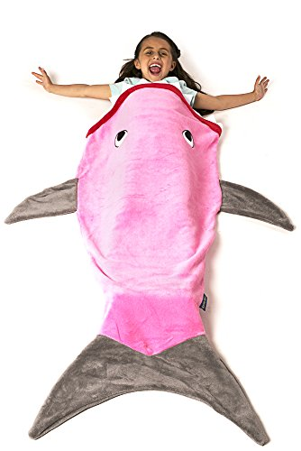 The Original Blankie Tails Shark Blanket (Youth Size) (Pink)