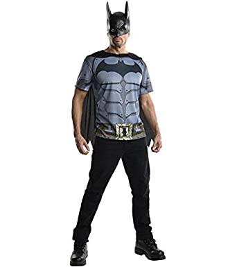 Amazon.com: Arkham Origins Batman Costume Adult Top T-Shirt Costume
