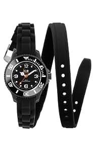 ICE-Watch - Montre femme - Quartz Analogique - Ice-Twist - Black - Mini - Cadran Noir - Bracelet Silicone Noir - TW.BK.M.S.12
