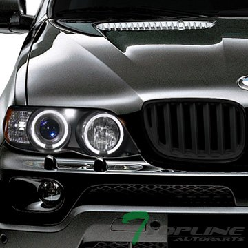Astra Depot Euro Blk Sport Style Front Hood Bumper Grill Grille Fit BMW E53 X5 SUV (2001 Bmw X5 Grille compare prices)