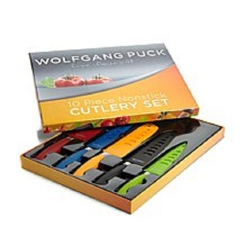 Wolfgang Puck Bistro Elite 10 piece Colored Nonstick Cutlery Knife Set (Wolfgang Puck Chef Knife compare prices)