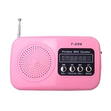 t 206 mini usb haut parleur haut parleur portable lecteur de musique fm fm radio carte de sd. Black Bedroom Furniture Sets. Home Design Ideas