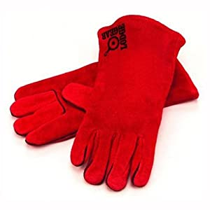 Lodge A5-2 Red Leather Gloves