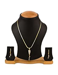 RZ Oddish Fashionable Stylish American Diamond Necklace Set For Women