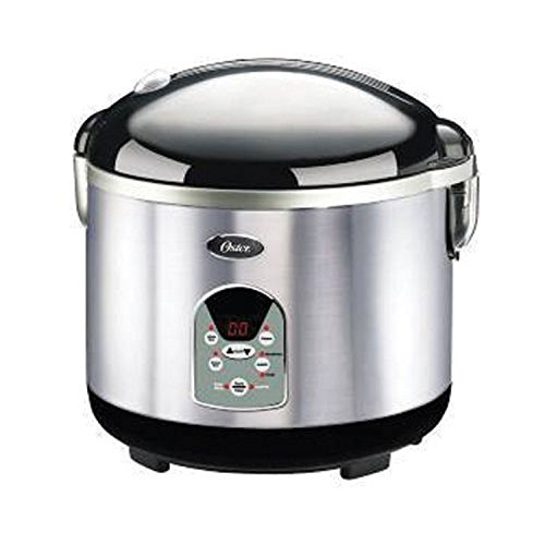 Oster 3071 Smart Digital 10-Cup uncooked resulting in 20-Cup cooked Rice Cooker, Brushed Stainless Steel (Tiger Rice Cooker Steam Tray compare prices)