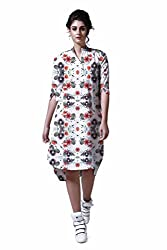 SINS Multicolour Rayon The Resortwear Printed Women's Summer Dress