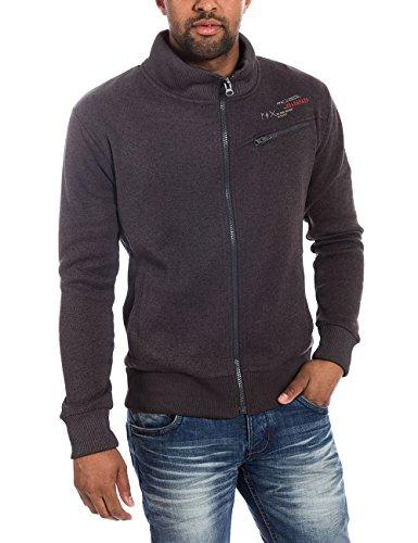 Timezone Herren Jacke Knit jacket 28-6014, Gr. Large, Rot (black olive melange 9135)