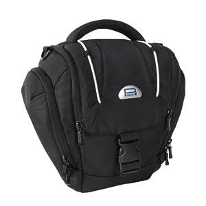 PEDEA Tasche für Sony SLT A37, A58K, A58Y, Canon EOS 1100D, Nikon Coolpix P7100 (Platz für Body und Objektiv, mit Tragegurt und Zubehörfach)