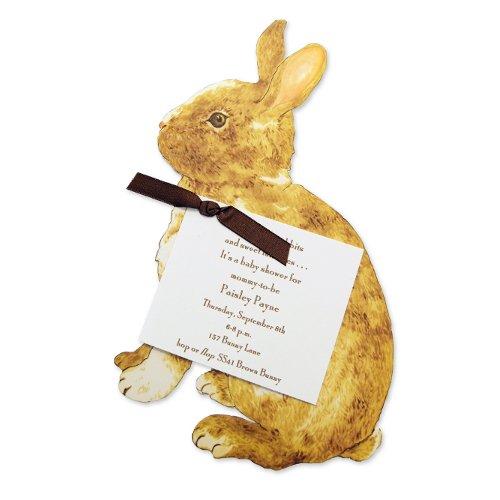 Brown Bunny Die-Cut Card, Pack Of 10 front-374311