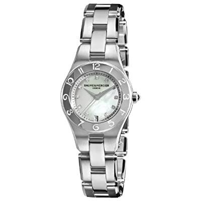 Baume & Mercier Women's 10011 Linea Mother-of-Pearl Diamond Dial Watch