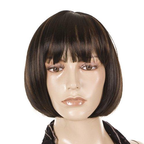 Katie Holmes Style Brunette Bob Hairstyle Fashion Wig with Fringe